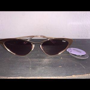 NWT Quay Australia gold rimmed cat-eye sunglasses